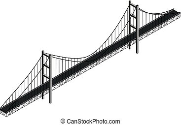 sospensione, isometrico, ponte