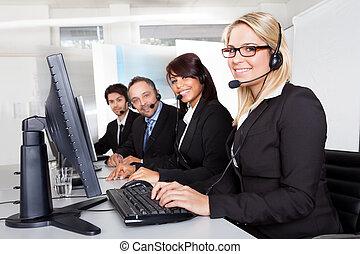 sostegno cliente, servizio, persone