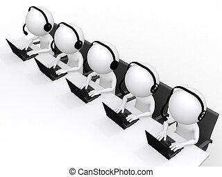 sostegno, isolato, uomo, centro, 3d, bianco