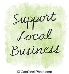 sostegno, locale, affari