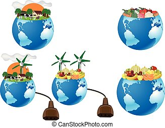 sostenibile, agricoltura, verdura, terra, pianeta, organico