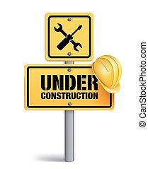 sotto, bianco, segno costruzione