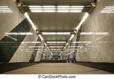 sottopassaggio, corridoio