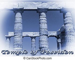 sounio, poseidon, tempio, grecia