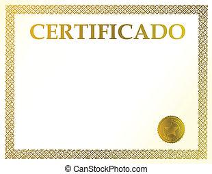 spagnolo, certificato, vuoto