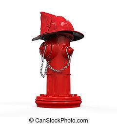 spari cappello, idrante, pompiere