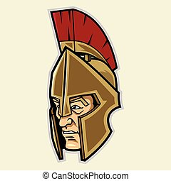 spartan, testa, mascotte