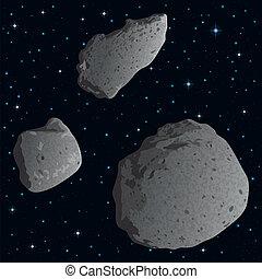 spazio, asteroidi