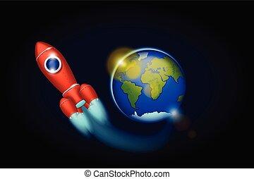 spazio, astronave