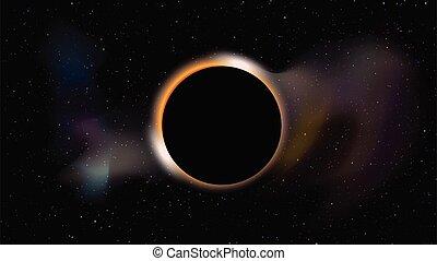 spazio, buco nero, scuro