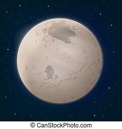 spazio, charon, luna