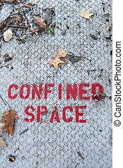 spazio confinato, segno