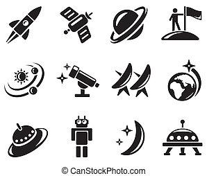spazio, icone