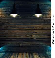 spazio, lampada, luci, fondale, vuoto, o, macchia