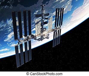 spazio, pianeta, stazione, internazionale, orbitare, terra