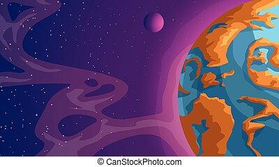 spazio, profondo, nuovo, pianeta
