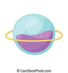 spazio, stile, cartone animato, astronomia, pianeta, galassia