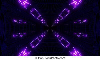 spazio, tunnel, alto, interpretazione, ardendo, fondo, riflessivo, abstact, galassia, 3d