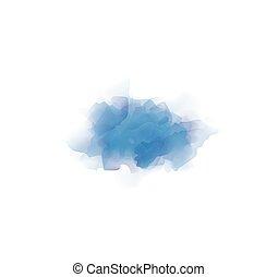 spazzola watercolor, blu