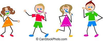 spazzolatura, bambini, denti