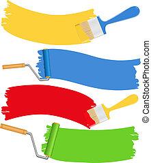 spazzole vernice, rulli