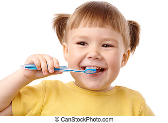 spazzolino, carino, bambino