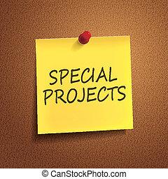speciale, progetti, parole, posto-esso