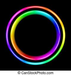 spectral, multicolor, cerchio