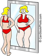 spesso, donna, magro