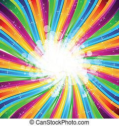spettro, astratto, arcobaleno, fondo, opuscolo