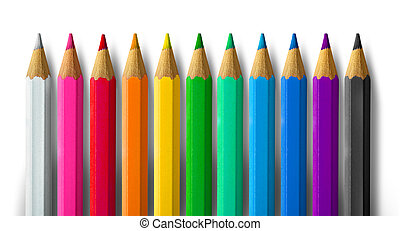 spettro, colore matita