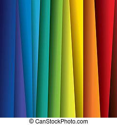 spettro, o, colorare, colorito, fogli, graphic., astratto, carta, (backdrop), arcobaleno, fondo, illustrazione, -, vettore, contiene, questo