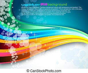 spettro, opuscolo, fondo, arcobaleno