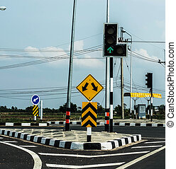 spia verde, traffico