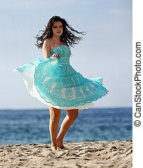 spiaggia, ballo