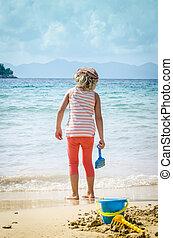spiaggia, bambino