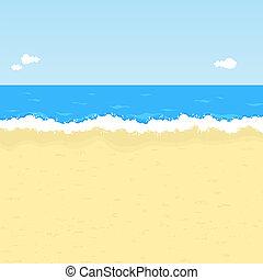 spiaggia, cartone animato