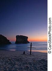 spiaggia, croce