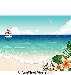 spiaggia, estate