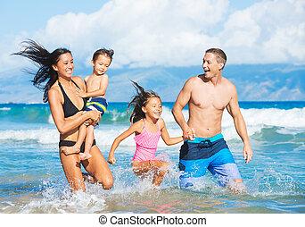 spiaggia, famiglia