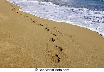 spiaggia, passeggiata