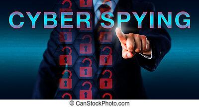 spiare, urgente, concorrente, cyber, onscreen