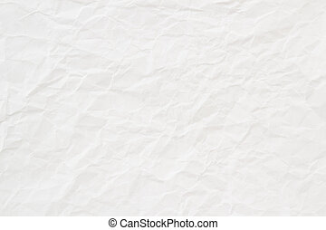 spiegazzato, struttura, carta, fondo, bianco, o