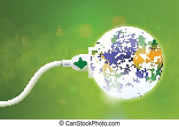 spina, verde, energia