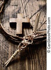 spine, palma, corona, croce, intrecciato