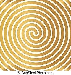 spirale, dorato, background-, illustrazione, vettore, lusso