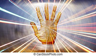 spirituale, guarigione, mano