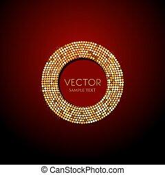 splendere, oro, vettore, lusso, fondo