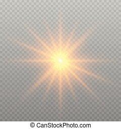splendore, effetto, luce