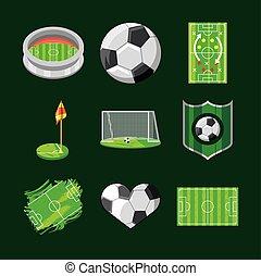sport, calcio, icone